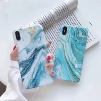 iphone case wave marble pattern for apple xsmax mobile phone case iphone 11 pro 78 all inclusive soft case huawei p 30 pro
