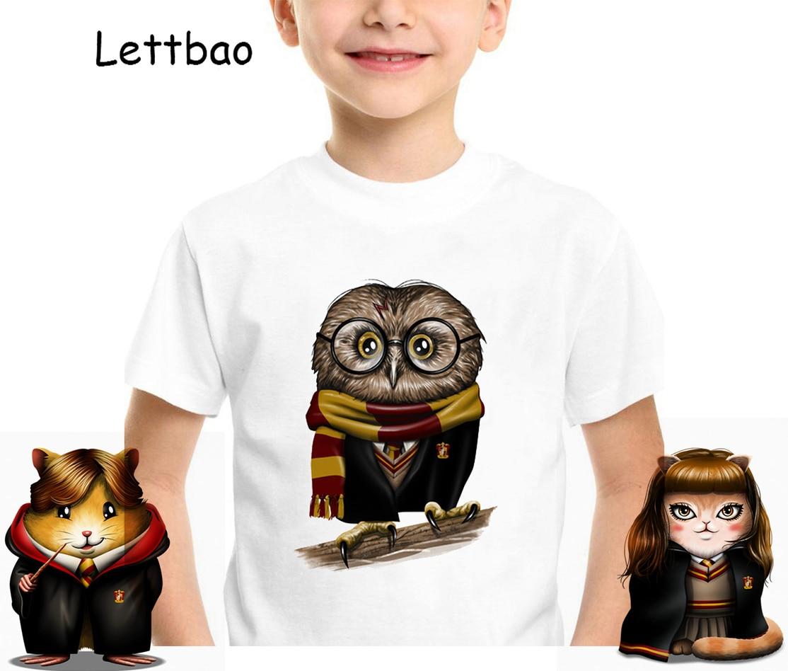 2 To 12 Years Toddler Boys Batman T Shirt Harry Owl Animal Summer Cotton Children Kids Shorts Baby Boys Girls Tops Tees T Shirt