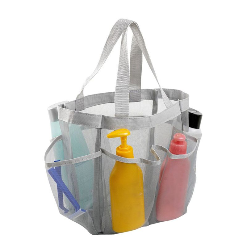 Oxford Cloth Shower Caddy Tote Quick Dry Organizer Bathroom Mesh Shower Bag Portable Toiletries Stor
