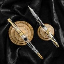 ROWBOE mignon papeterie simple piston type transparent grande capacité encre stylo plume brosse calligraphie écriture papeterie