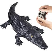 2.4GHz Remote Control Speed Boat 4 Channels Realistic Crocodile Shape Boys Girls Aquatic Toy RC Toy