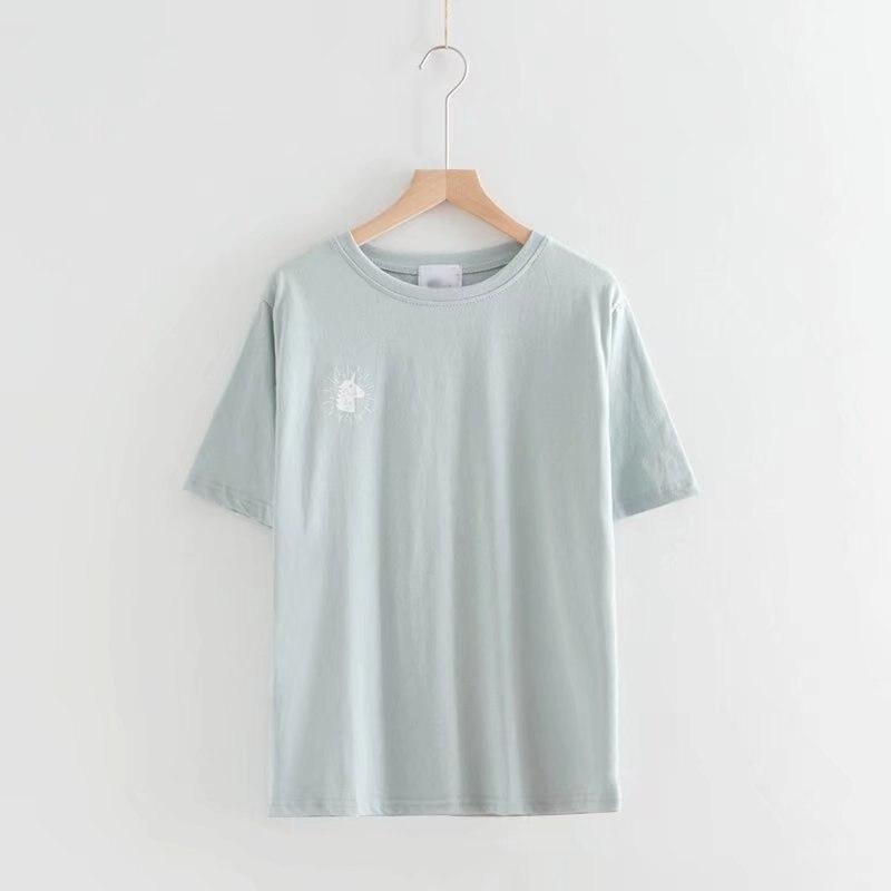 2019 nova menina impressa camisetas femininas casual verão manga curta feminino t shirt roupas femininas