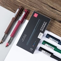 fizz color rollerball pen 0 5mm color ink gel pen fast dry straight pen write smoothly for school office stationery pen