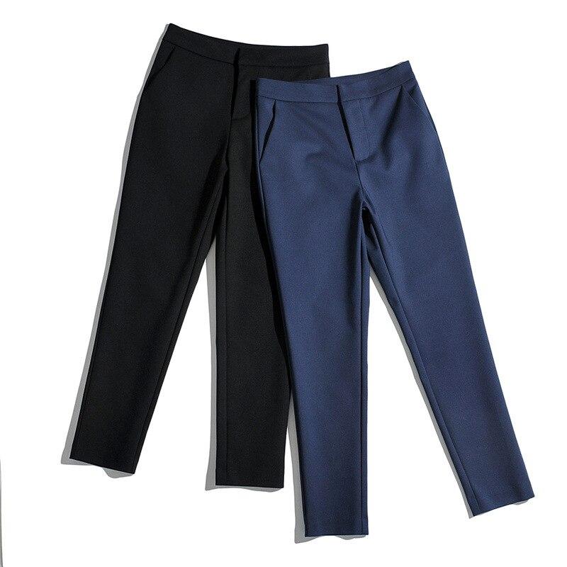 Женские капри в Корейском стиле, рабочая одежда на весну и осень, брюки и облегающие повседневные брюки, прямые брюки-Капри с небольшими шта... zeusedera брюки капри