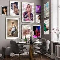 Affiches de chanteur de musique Star Ariana Grande  affiches de Magazine  couverture dart murale  image  decor de maison  autocollants muraux en toile