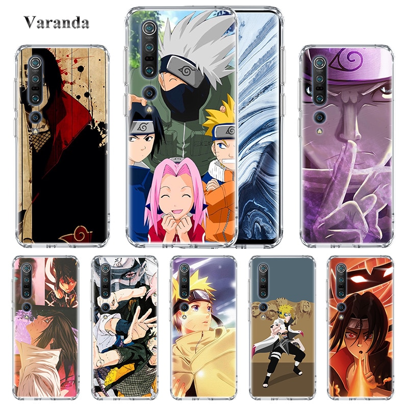 De dibujos animados Naruto lindo fundas de Tpu para Xiaomi Mi nota 10 Pro 5G 9T CC9 9 SE 8 Lite A2 6X Poco X2 F2 F1 Shell teléfono