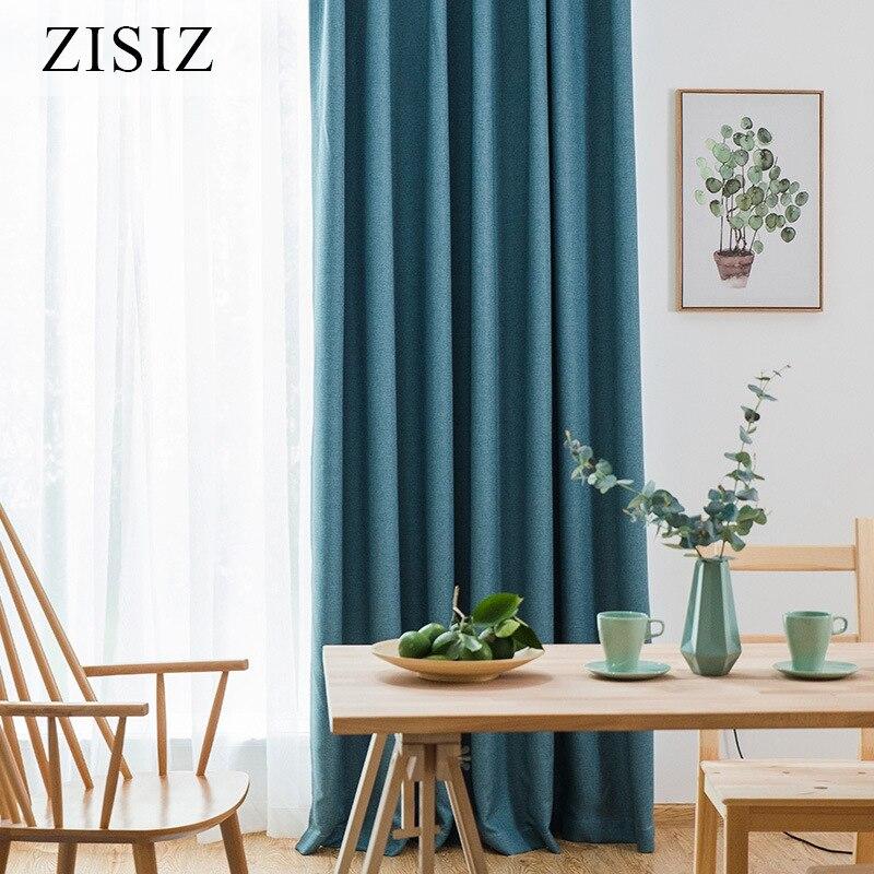 ZISIZ, cortinas largas opacas para sala de estar, dormitorio, Color sólido, cortinas con aislamiento térmico moderno, cortinas para ventanas, cortinas