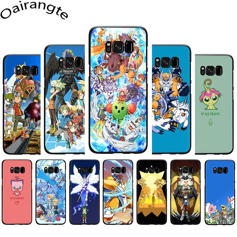 Cartoon Digimon Soft Phone case for Samsung S6 S7 Edge S8 S9 10 Plus S10e Note 8 9 10 M10 M20 M30 M40