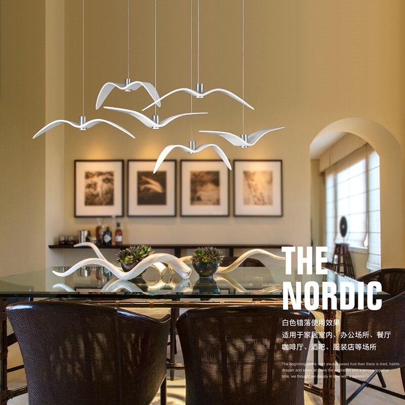 Novel Pattern Creative Design LED Pendant Light Bird of Paradise Seagull Pendant Lamp Modern Style for Bar Public House Home enlarge