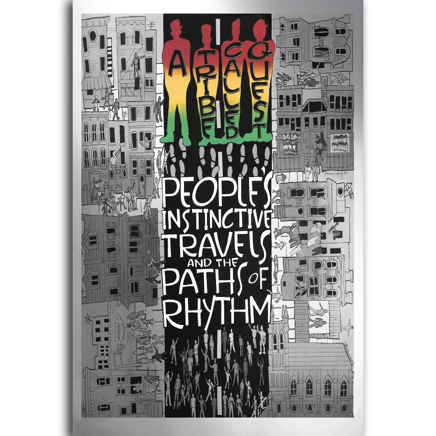 Cubierta de álbum de música MT393 A tribal, llama Quests Rap, pintura al óleo, póster de arte, lienzo impreso, decoración del hogar, Impresión de pared