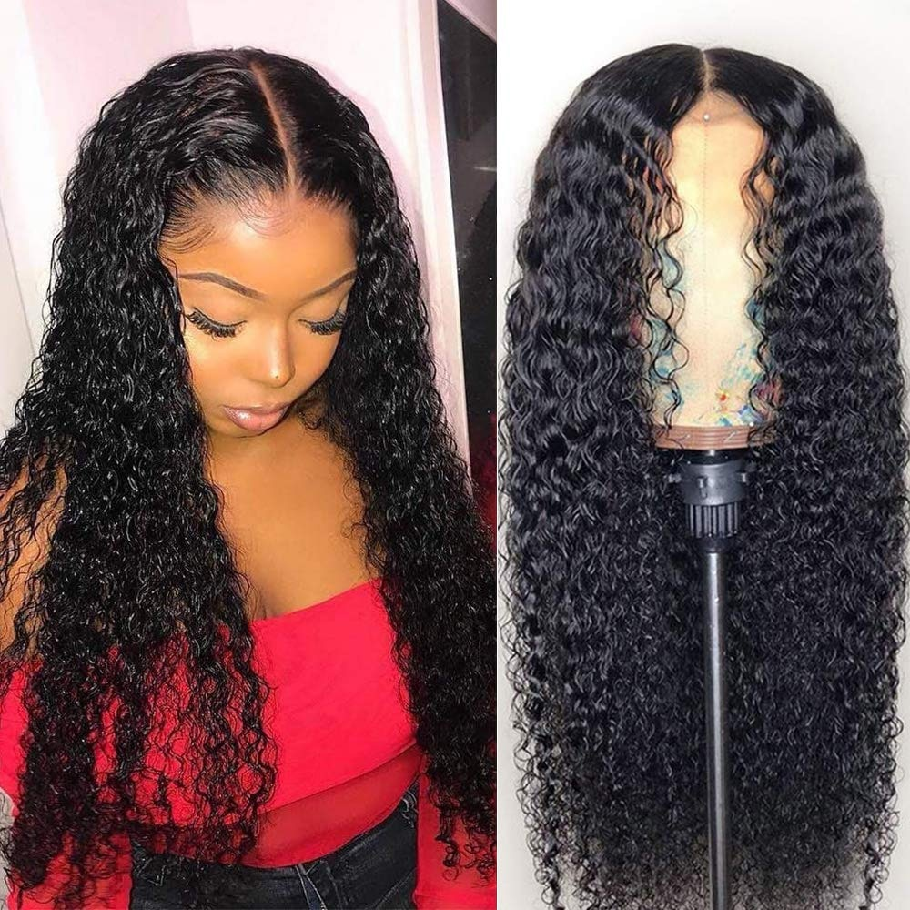 Kinky Curly Lace Front Human Hair Wigs Pre Plucked 13x4 Lace Frontal Wig For Women 4x4 Closure Wig Remy Brazilian T part Wig