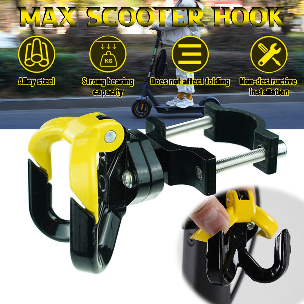 Electric Scooter Hook Aluminum Alloy Hanging Bag Hook Scooter Accessories for Ninebot MAX G30 Xiaomi M365