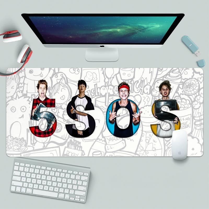 5SOS удобный коврик для мыши, игровой коврик для мыши, резиновый игровой коврик для мыши XL, большой игровой коврик для клавиатуры, настольного ...
