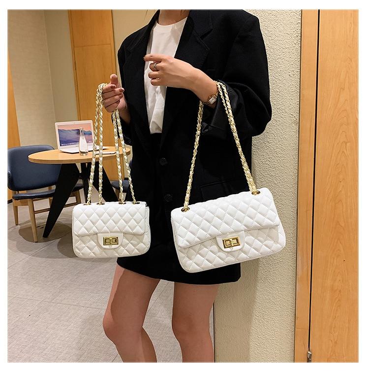 حقيبة كتف نسائية بولي Leather جلد Lingge نمط المرأة Straddle حقيبة صغيرة العلامة التجارية مصمم البساطة الفتاة محفظة حقيبة يد كيس
