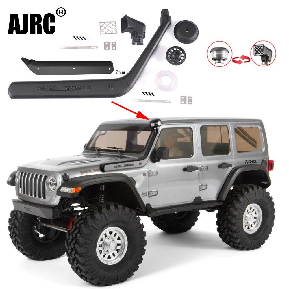AJRC-قطع غيار سيارات التحكم عن بعد لـ Axial scx10 iii jeep 90046/90047 ، محاكاة ، أنبوب التنفس ، مجموعة المشبك ، ملحقات الخوض