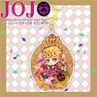 anime keychain jojo bizarre adventure cartoon comic figure acrylic keyring women man holder bag car key accessories kawaii