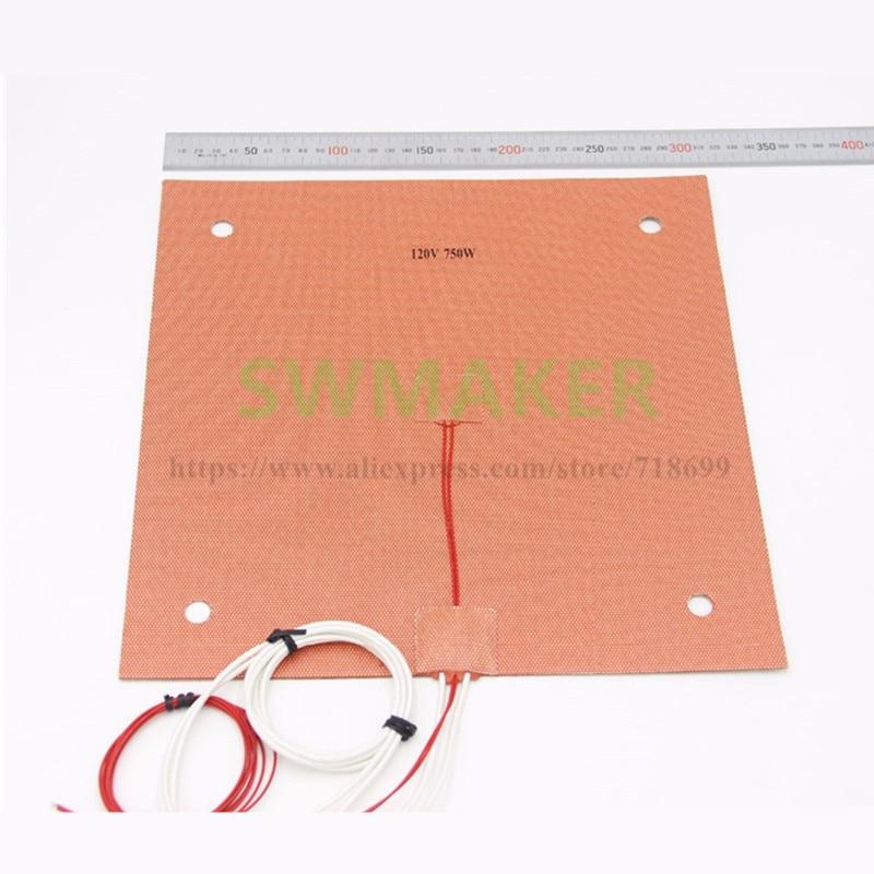 ¡Material de EUA! Almohadilla térmica de silicona 340x340mm para BLV MGN Cube con 10mm orificios de tornillo, Sensor