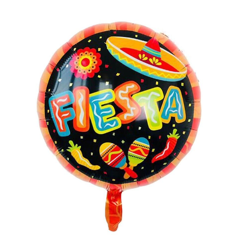 1 stücke Fiesta Party Dekorationen Globos Mexiko Folie Luftballons Geburtstag Luftballons Baby Shower Party Dekoration Ballons