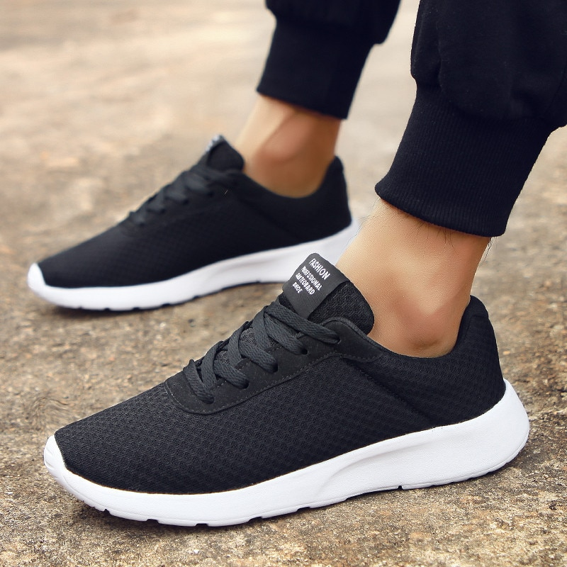 New Mesh Men Casual Shoes Lace Up Men Shoes Plus Size Lightweight Comfortable Breathable Walking Sneakers Tenis Feminino Zapatos