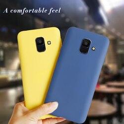 Capa de silicone para celular samsung galaxy, a6 2018 samsung a 6 plus a6plus 2018 a600f a610f capa fundas coque