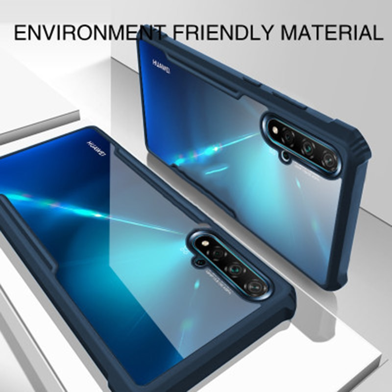 Casing For Huawei Nova 5T 4e Case Transparent Shockproof Case Acrylic Bumper soft Cover For Huawei Honor 20s 20 Case Coque