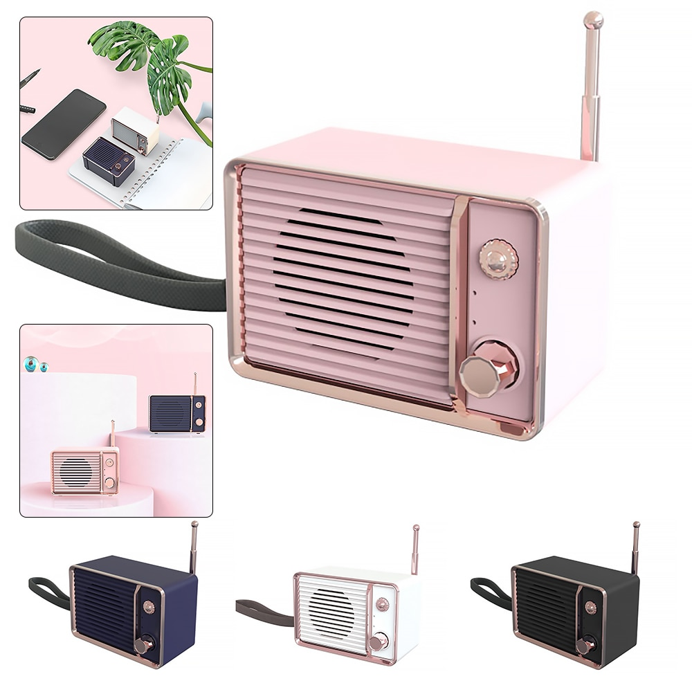DW01 Audio Mobile Phone Portable Rechargeable Mini Retro Bluetooth Speaker Radio Cute Outdoor Mini Speakers Travel Music Player