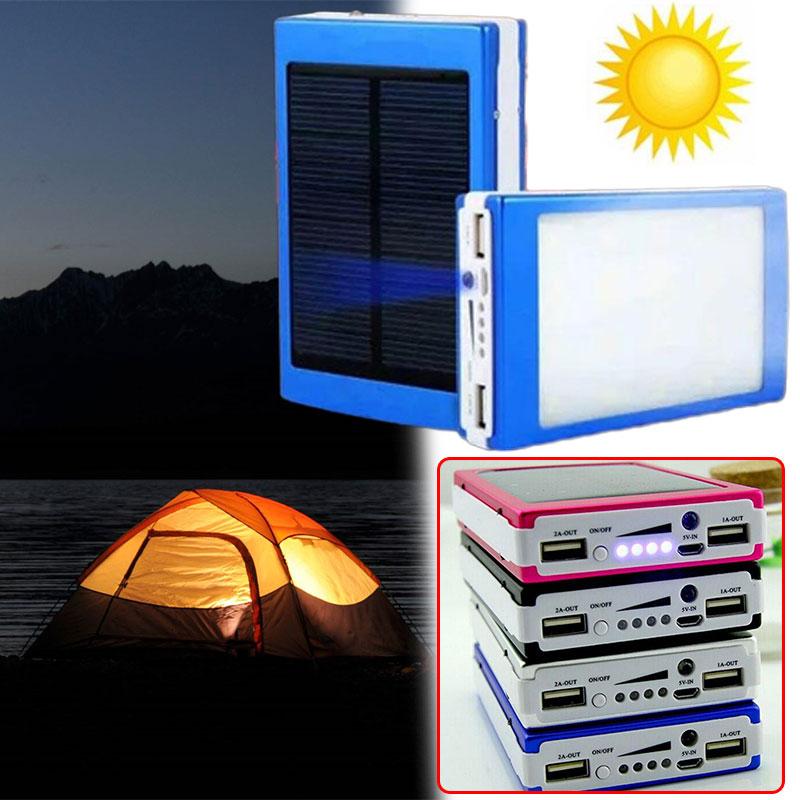 Cargador de batería externo 18650, caja de bricolaje, LED Solar portátil, Banco de energía Dual USB, Panel Solar portátil para el hogar, Cha