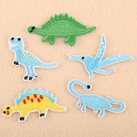 zotoone cute dinosaur patch iron on embroidery patches for clothing diy sewing cartoon animal stickers badge clothes appliques z
