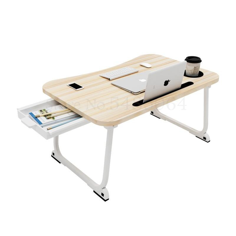 Cama escritorio dormitorio con mesa pequeña plegable perezoso aumentar gran portátil Mesa dormitorio mesa de estudio