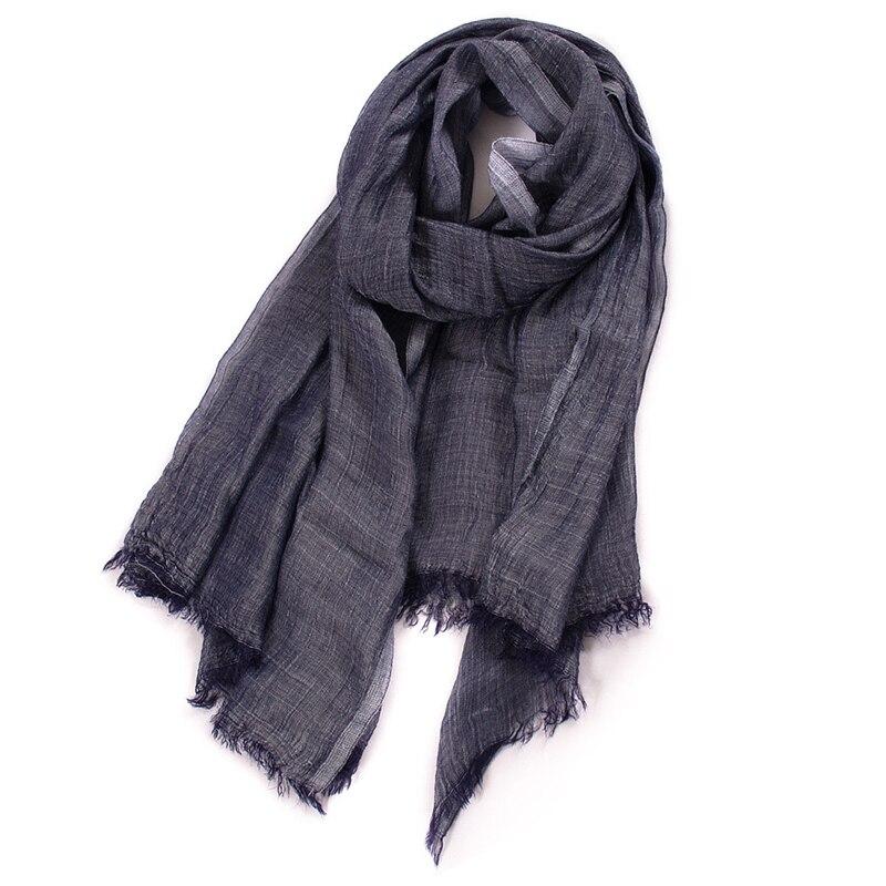 Estilo unissex inverno cachecol algodão e linho solider cor longo cachecóis femininos xale moda masculina cachecol 2019 novo japonês