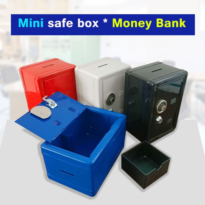 خزائن معدنية صغيرة ، قفل للمفاتيح ، صندوق تخزين آمن للأطفال ، زخارف منزلية إبداعية ، صندوق تخزين أمان صغير ، شحن مجاني