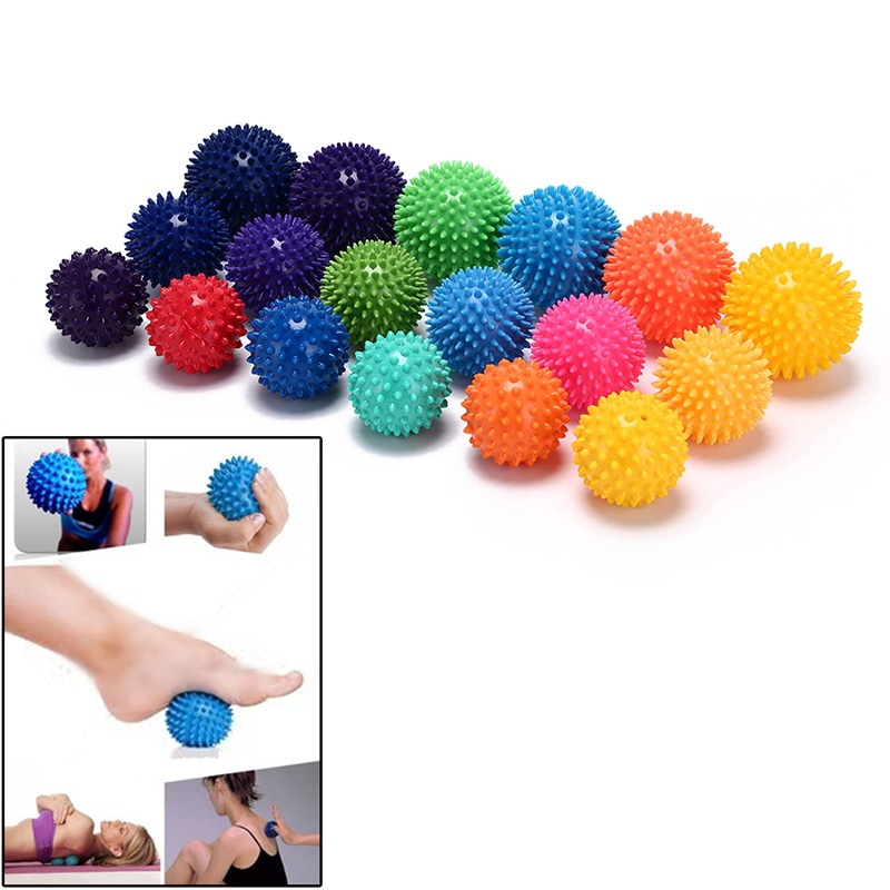 7/7.5/9cm Spiky Massage Ball Hand Foot Body Pain Stress Massager Relief Trigger Point Health Care Sp