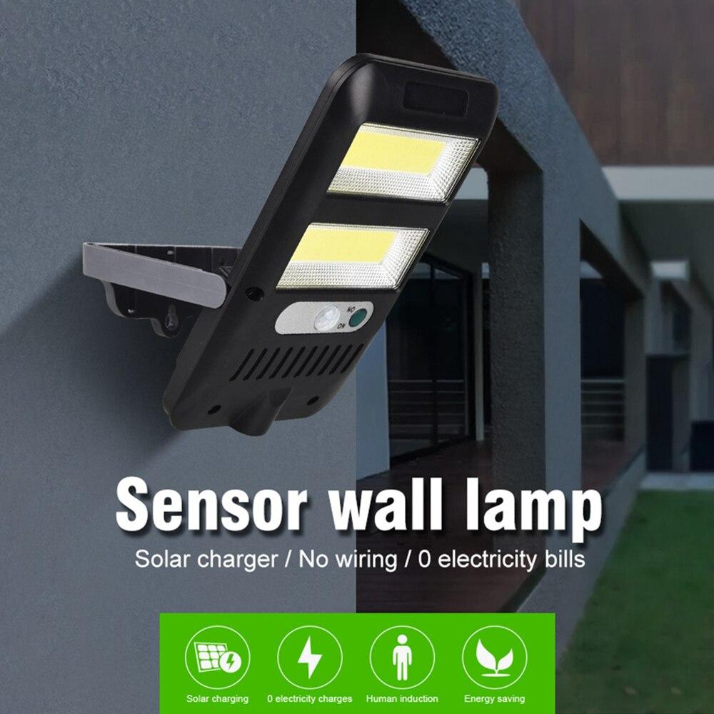 Solar Powered Motion Sensor Light Wall Flood Lights with 3 Lighting Modes IP65 Waterproof Outside Folding Light Backyard Garden