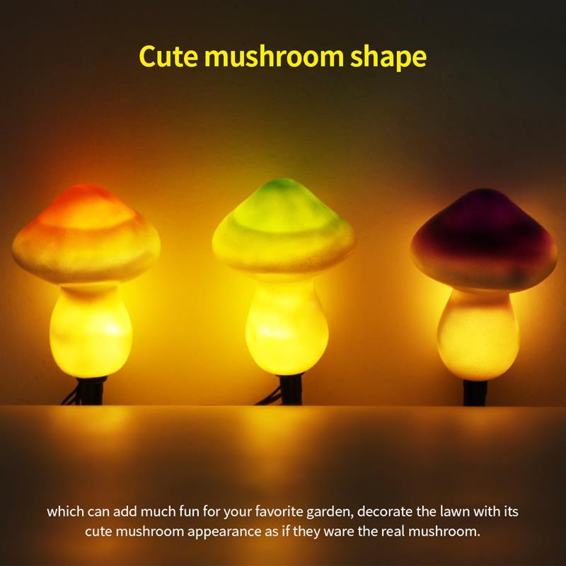 9leds energía solar seta cuerda lámpara hongo impermeable LED luces de noche con caja para decoración de fiesta de jardín