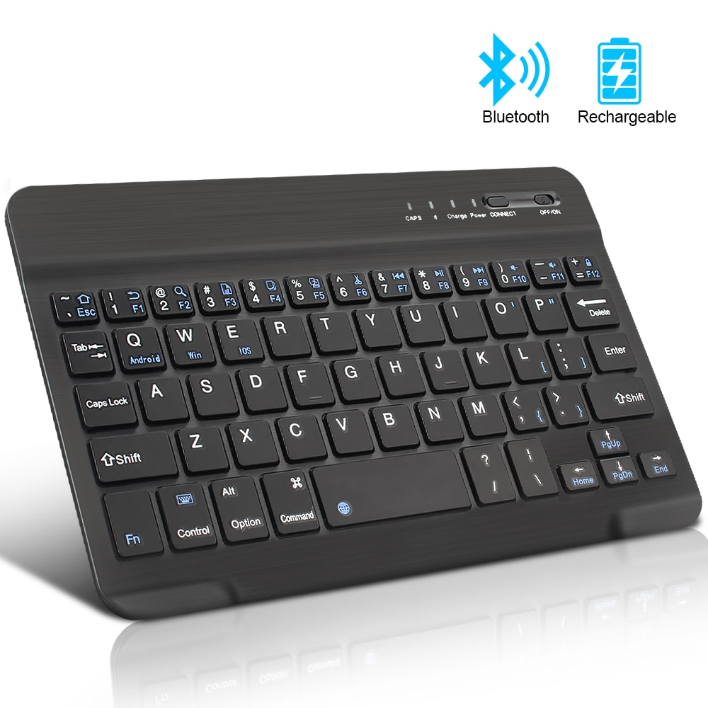 Mini Wireless Keyboard Bluetooth Keyboard For ipad Phone Tablet Russian Spainish Rechargeable keyboard For Android ios Windows