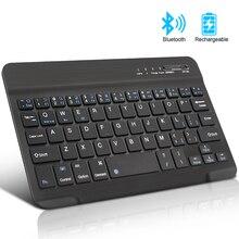 Mini Drahtlose Tastatur Bluetooth Tastatur Für ipad Telefon Tablet Gummi tastenkappen Wiederaufladbare tastatur Für Android ios Windows