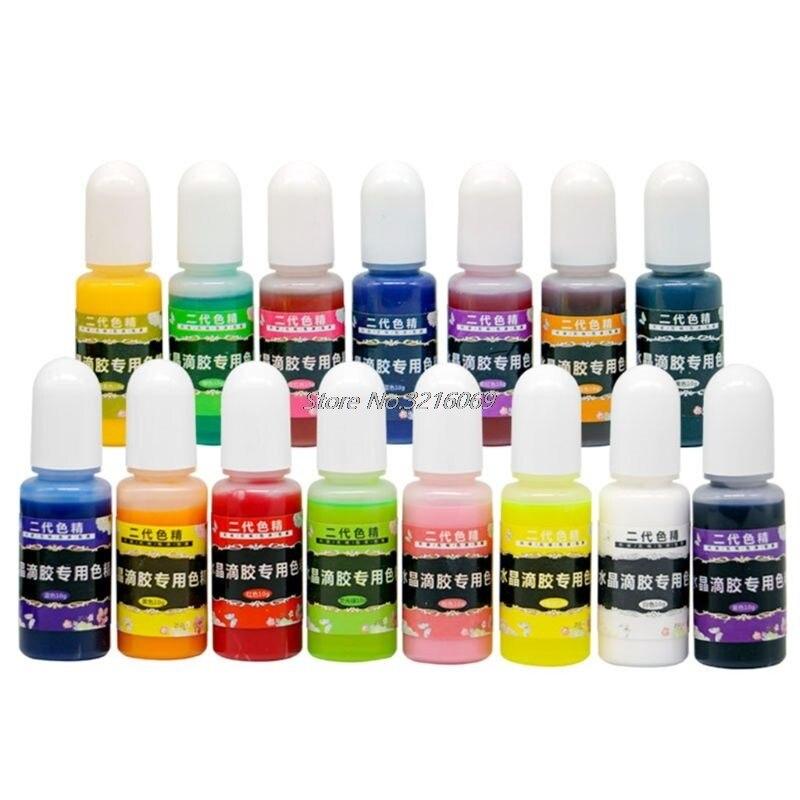 12 unids/set 10ML resina epoxi pigmento UV resina colorante para teñido pigmento de resina artesanías hechas a mano DIY Art Sets 12 colores Dropship