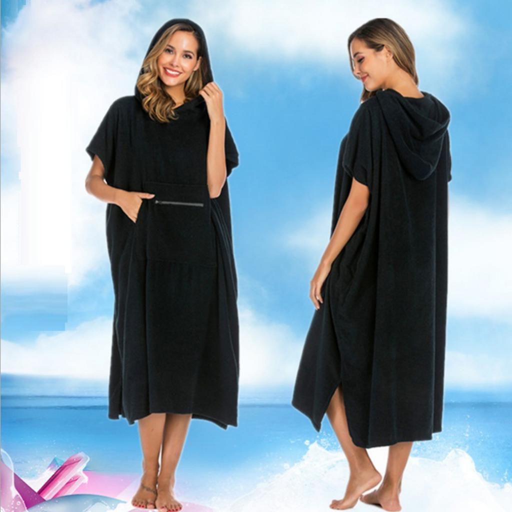 Algodão puro wetsuit mudando toalha das mulheres dos homens surf natação vela praia surf poncho com capuz wetsuit mudando toalha