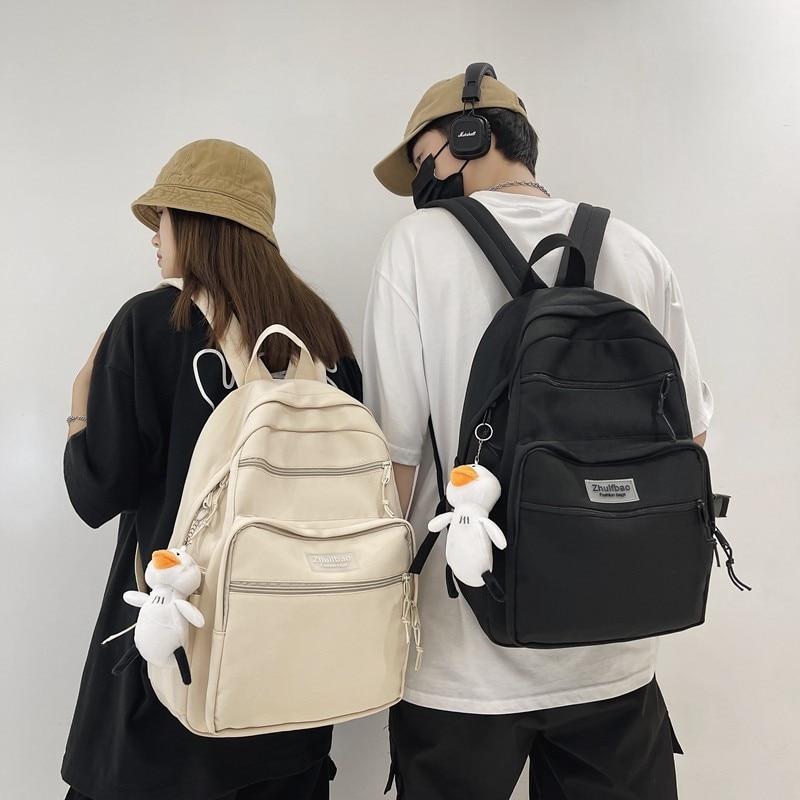 Нейлоновый Водонепроницаемый модный мужской рюкзак для ноутбука с защитой от кражи модный однотонный рюкзак для женщин