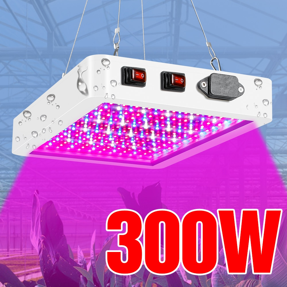 LED Grow Light 300W 500W Waterproof Phytolamp 2835 SMD Chip Phyto Growth Lamp Full Spectrum Plant Lighting For Indoor Grow Tent fast grow indoor led grow light full spectrum 300w phyto growth lamp indoor phytolamp for plants flower veg greenhouse grow tent