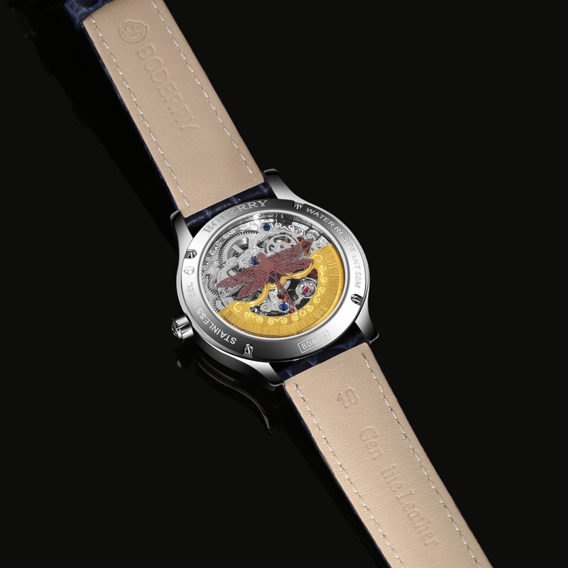 2020 Boderry Women's Luxury Automatic Fashion Diamond Skeleton Watches Ladies Stainless Steel Wristwatches Female Dress Watch enlarge