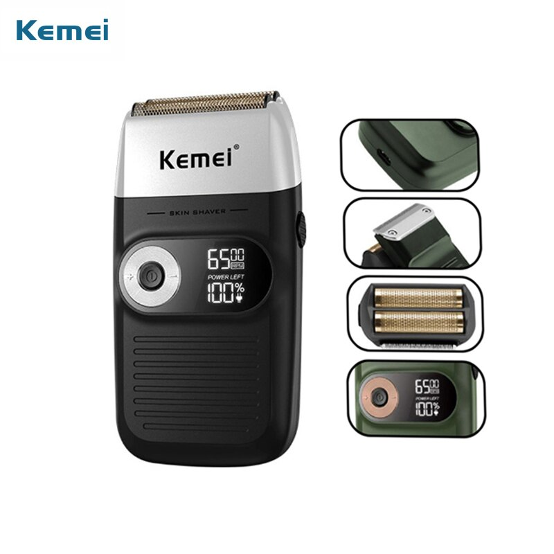Kemei المهنية الحلاقة تنظيف الشعر الحلاقة المشكل ماكينة حلاقة كهربائية رئيس ماكينة حلاقة موتور دوار الحلاقة الكهربائية للرجال