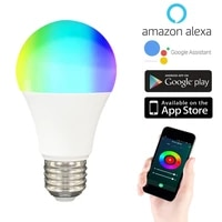 Ampoule LED Tuya Zigbee  lampe pour maison connectee  10W  E27  RGB  pour Smart Life  Alexa  Google Assistant  Smartthings  1 pieces