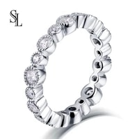 sl new fashion for women 925 sterling silver rings rose gold hollow love finger ring for wedding jewelry gift