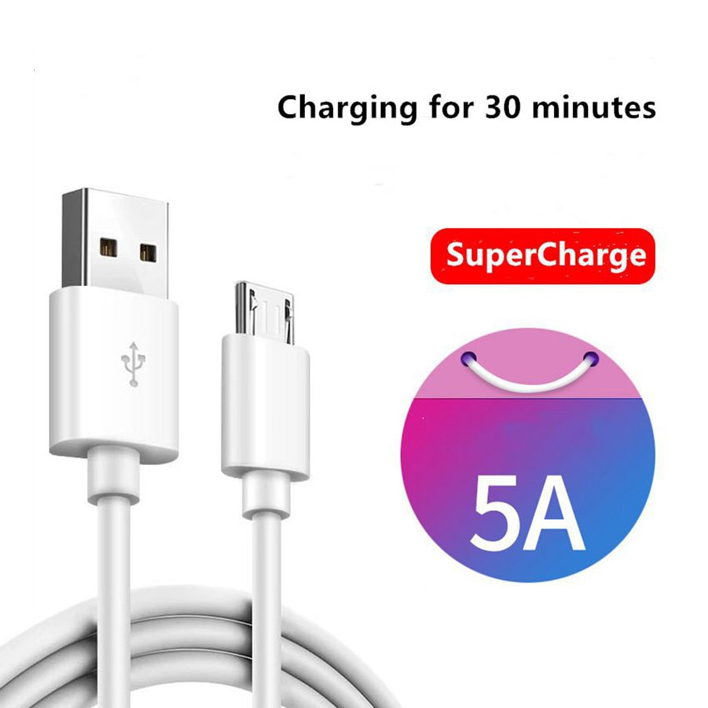 Micro-usb 5a Charger Data Cable Fast Charging 1m/1.5m/2m For Samsung For Huawei 100% Brand New And H