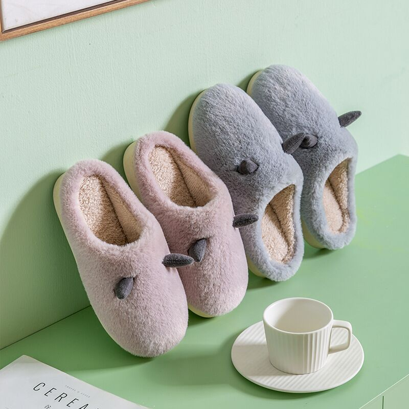 JIANBUDAN New Plush Home Cotton shoes Women Comfortable Indoor Warm slippers Unisex Lovely Cartoon slippers Plush Indoor shoes jarycorn shoes women s straw slippers new couple shoes handmade chinese style comfortable sandals2020 summer fashion unisex home