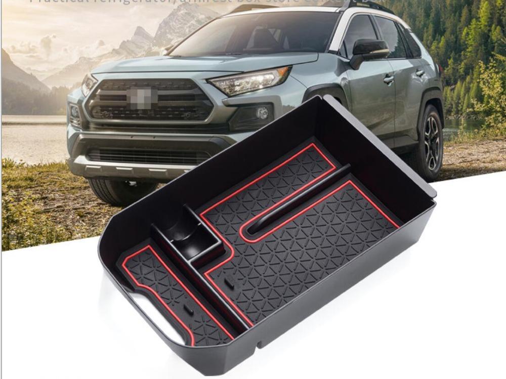 For Toyota RAV4 XA50 2019 2020 Car Organizer Armrest Glove Storage Box Console Tray Non-slip Mats Car Styling Accessories
