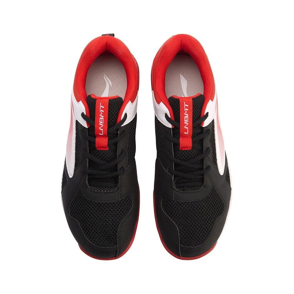 Туфли Li-Ning мужские для бадминтона, дышащая Спортивная нескользящая обувь, с подкладкой, AYTN051-5