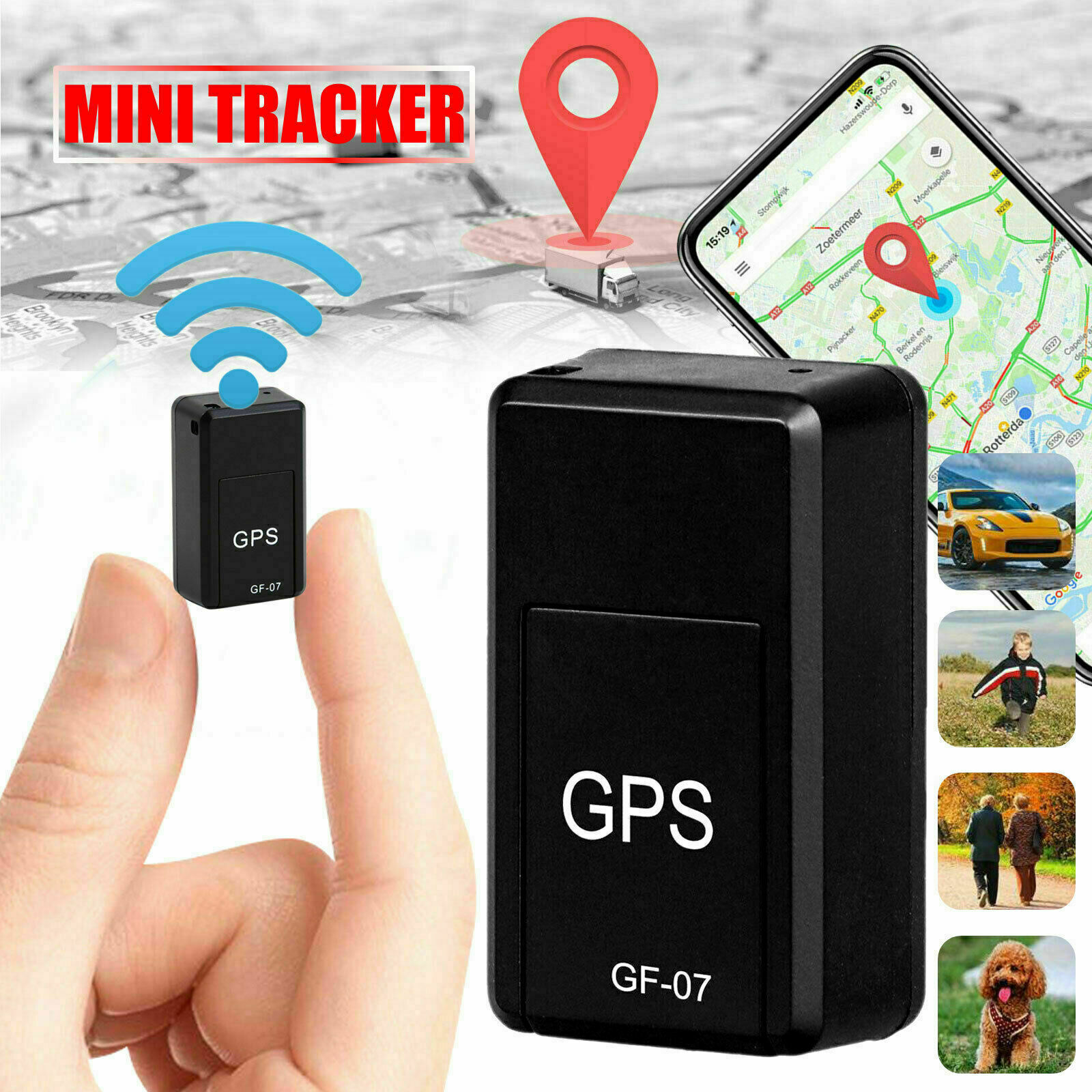 New Mini GPS Tracker Car GPS Locator Anti-theft Tracker Car Gps Tracker Anti-Lost Recording Tracking
