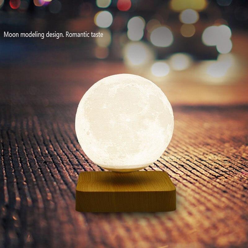 Creative Magnetic Levitation 3D Printing Led Lunar Lamp Bedside Ornament Suspended Lunar Lamp Bedroom Night Jupiter Lamp Gift